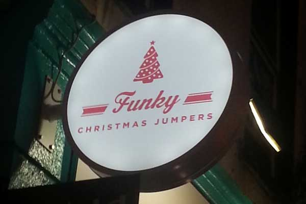 Funky Christmas Jumpers Light Box