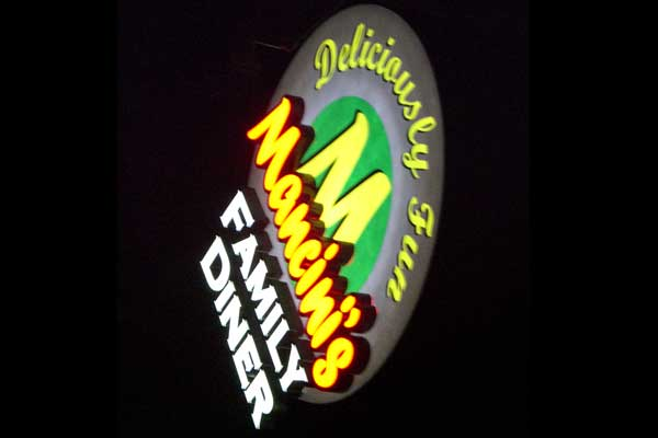 Mancinis Light Box Sign