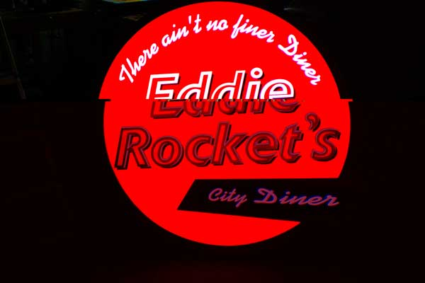 Eddie Rockets Outside Light Box Sign