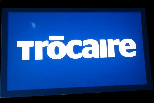 Trocaire Outside Light Box Sign
